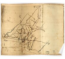 American Revolutionary War Era Maps 1750-1786 517 Draft of roads in New Jersey Poster