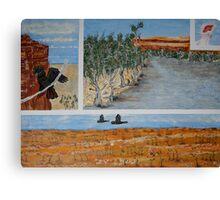 Four Birds in Four Desert Scenes Canvas Print