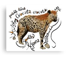 Spotted Hyaena Canvas Print