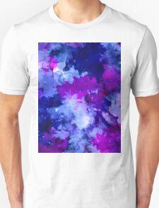 Modern blue purple watercolor brushstrokes Unisex T-Shirt
