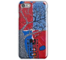 Computer Chips with Boab Tree, floating fruit iPhone Case/Skin