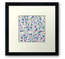 Modern watercolor geometric triangles floral  Framed Print