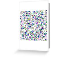 Modern watercolor geometric triangles floral  Greeting Card
