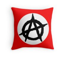 Anarchy flag Throw Pillow