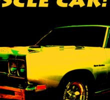 Driving My Muscle Car Sticker