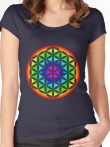 Flower of Life Rainbow 2 Women's Fitted Scoop T-Shirt