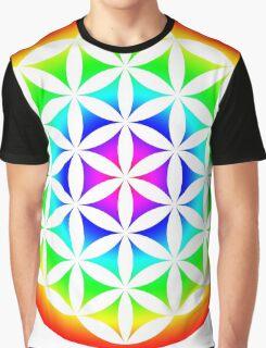 Flower of Life Rainbow 2 Graphic T-Shirt