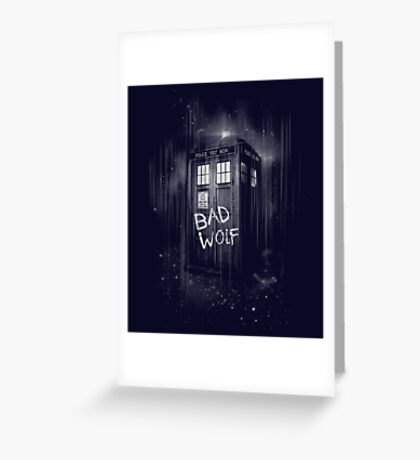 Bad Wolf Greeting Card
