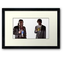 Vincent And Jules Pulp Fiction Framed Print