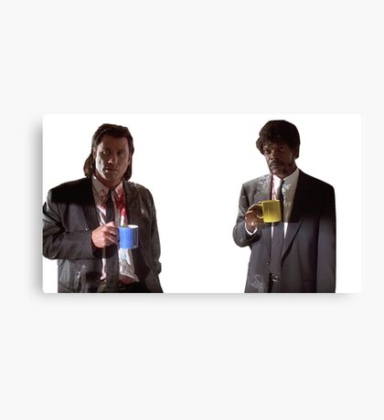 Vincent And Jules Pulp Fiction Canvas Print