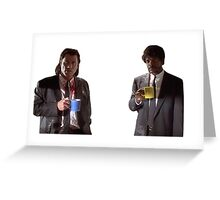 Vincent And Jules Pulp Fiction Greeting Card