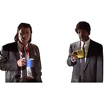 Vincent And Jules Pulp Fiction Photographic Print