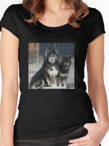 Wolfie Wear Hoodie Women's Fitted Scoop T-Shirt
