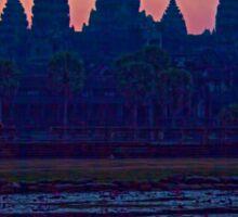 Cambodia. Angkor Wat. Sunrise. Sticker