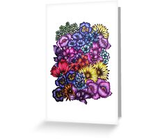 A Field of Flowers Greeting Card