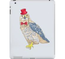 Hipster  bird Rough-legged Buzzard iPad Case/Skin