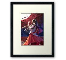 Epic Digital Painting of Tohno Akiha Framed Print