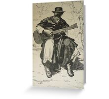 Argentine Gaucho from Butch Cassidy's time Greeting Card