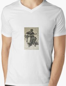 Argentine Gaucho from Butch Cassidy's time Mens V-Neck T-Shirt