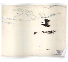 085  Sketch of roads and streams in Highland County Va and Pendleton County W Va Poster