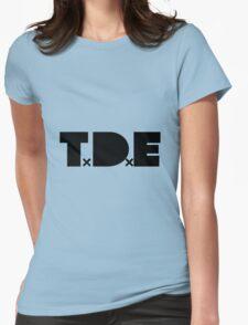 TDE Black Logo Womens Fitted T-Shirt