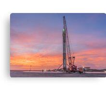 SpaceX landed rocket Canvas Print