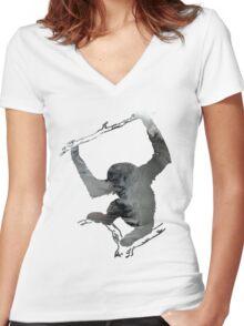 Gibbon Women's Fitted V-Neck T-Shirt