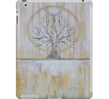 Solstice - Gold and Grey Textured Painting - Abstract Tree Landscape iPad Case/Skin