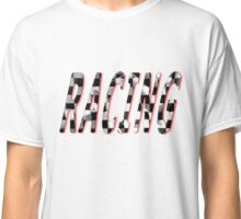 Racing Word Chequered Flag Classic T-Shirt
