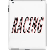 Racing Word Chequered Flag iPad Case/Skin