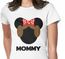 Mommy Leia Minnie Womens Fitted T-Shirt