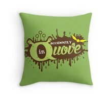 Accidently in Quove Throw Pillow