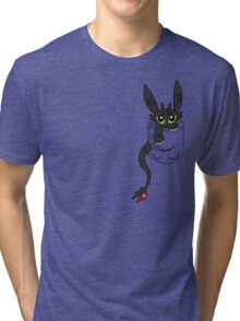 How To Train Tour Dragon, Toothless pocket Tri-blend T-Shirt