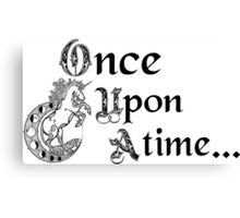 Once upon a time- logo Canvas Print