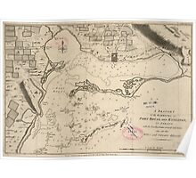American Revolutionary War Era Maps 1750-1786 025 A draught of the harbours of Port Royal and Kingston in Jamaica with the fortifications correctly laid down Poster