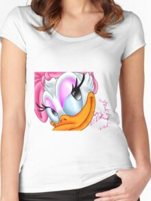 ~Daisy Duck ~ Women's Fitted Scoop T-Shirt