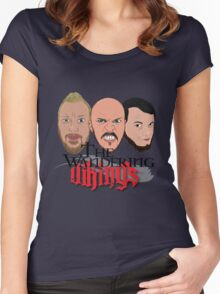 Wandering Vikings Podcast faces Merch Women's Fitted Scoop T-Shirt