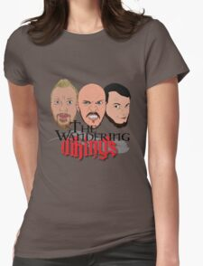 Wandering Vikings Podcast faces Merch Womens Fitted T-Shirt