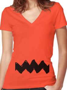Charlie Brown - Yellow Variant Women's Fitted V-Neck T-Shirt