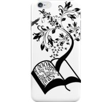 A Book A Day Keeps The Reality Away - Typography iPhone Case/Skin