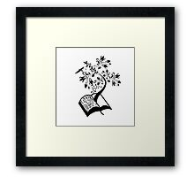A Book A Day Keeps The Reality Away - Typography Framed Print