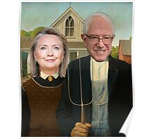 Hillary and Bernie Portrait  Poster
