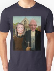 Hillary and Bernie Portrait  Unisex T-Shirt