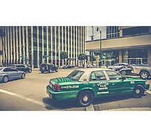 Beverly Hills - Taxi - Wilshire Boulevard Intersection II Photographic Print