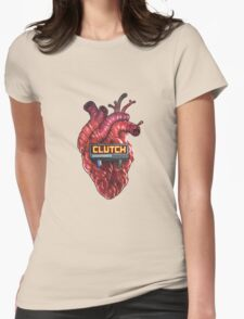 CLUTCHTRAK - Heart beating Womens Fitted T-Shirt