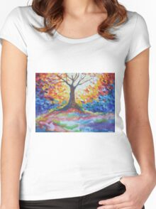 Tree Of Hope Women's Fitted Scoop T-Shirt