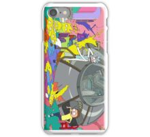 Rick and Morty, crashes into the Simpsons iPhone Case/Skin