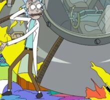 Rick and Morty, crashes into the Simpsons Sticker
