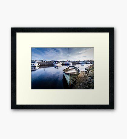 Blue Dock Framed Print