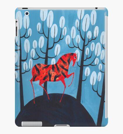 Smug red horse iPad Case/Skin